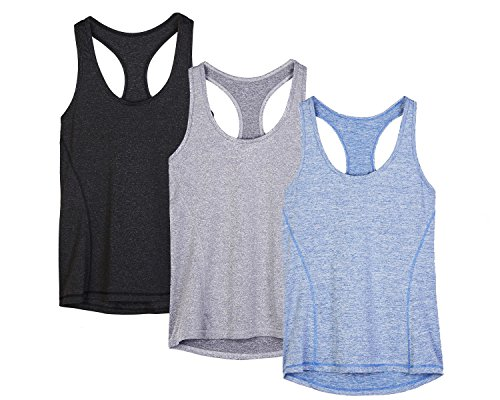 Icyzone Workout Tank Tops for Women (3-Pack)