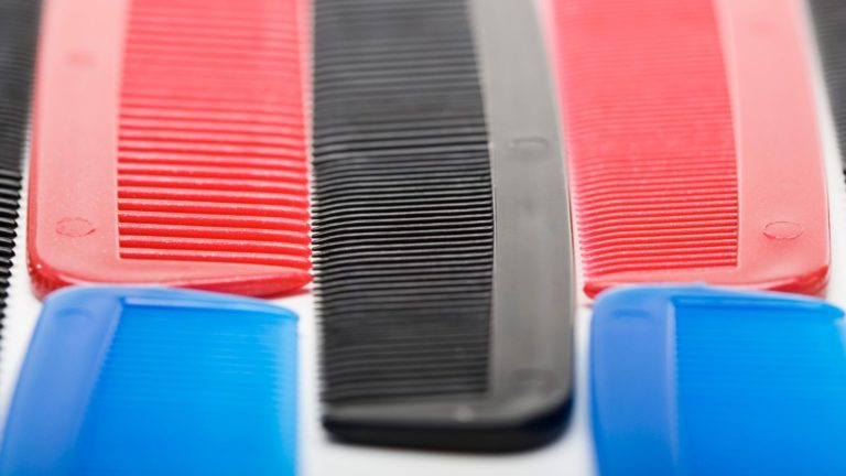 Fine teeth combs of varying colors.